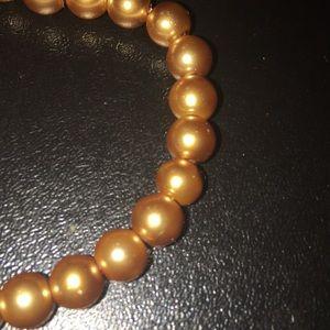 Jewelry - handmade bronze pearl bracelet/anklet
